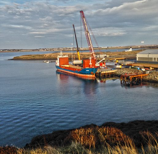 Second Boat delivery MV Marne at Arnish Quay