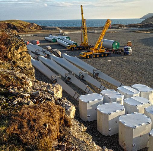 Storage of turbine items at Arnish