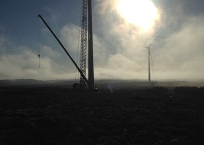 Erecting the Turbines