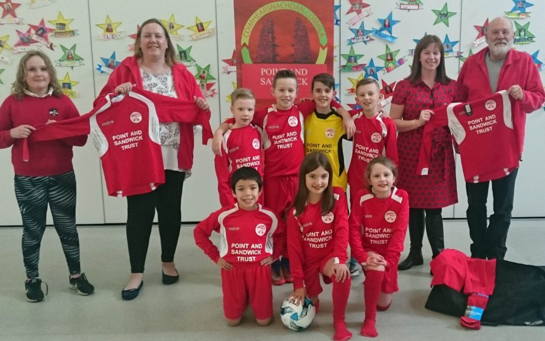 Sporting edge for Sgoil an Rubha thanks to sponsored strips from PST